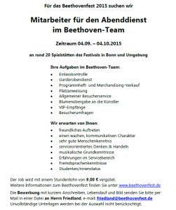 18.08.2015 Beethovenfest - Mitarbeiter Abenddienst